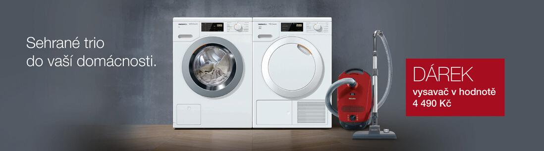 Miele - Set pračky a sušičky s vysavačem zdarma