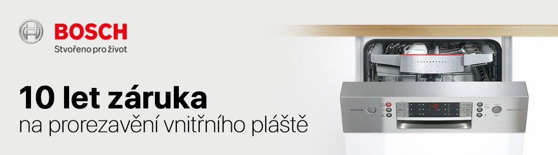 10 letá záruka na prorezavění vnitřních stěn myčky nádobí BOSCH