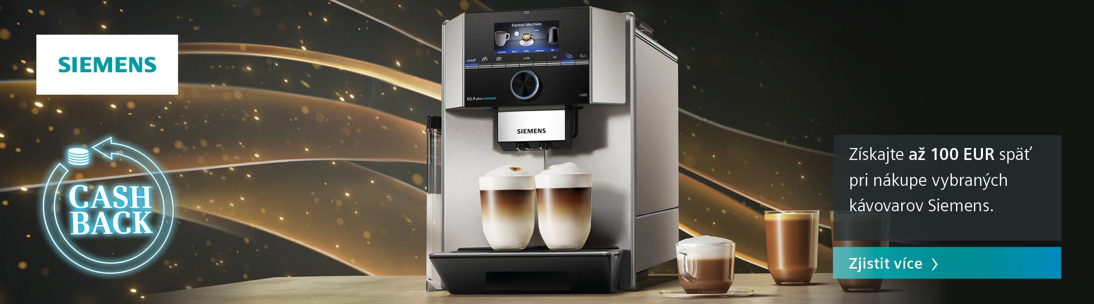 Cashback kávovary Siemens