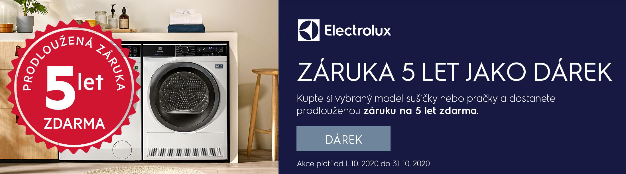 Electrolux - 5 let záruka jako dárek