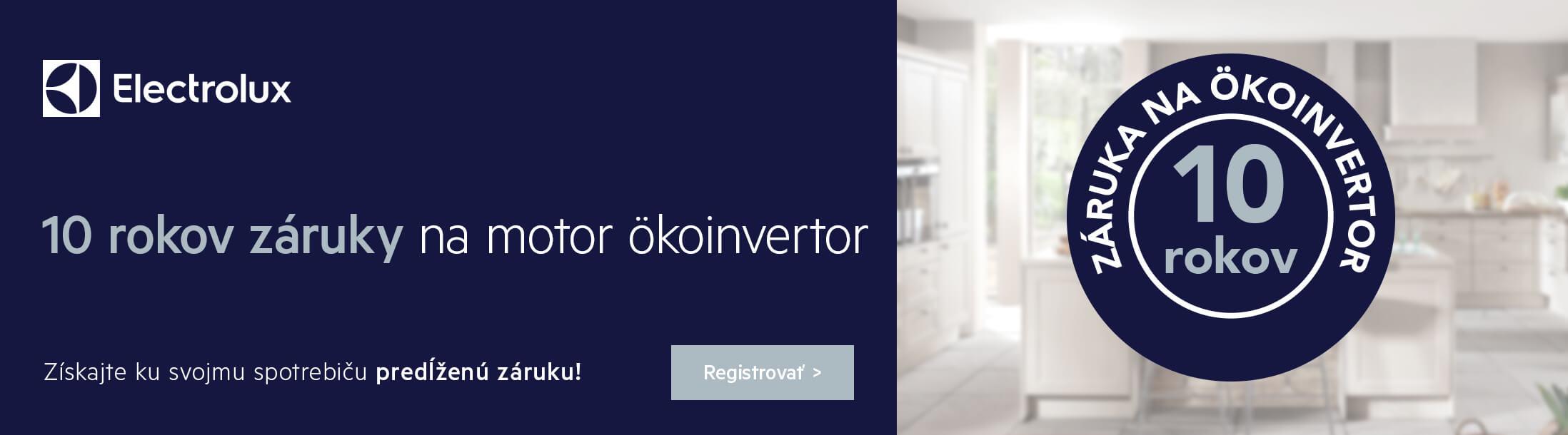 Electrolux 10 rokov záruky na ÖKOinvertor motor