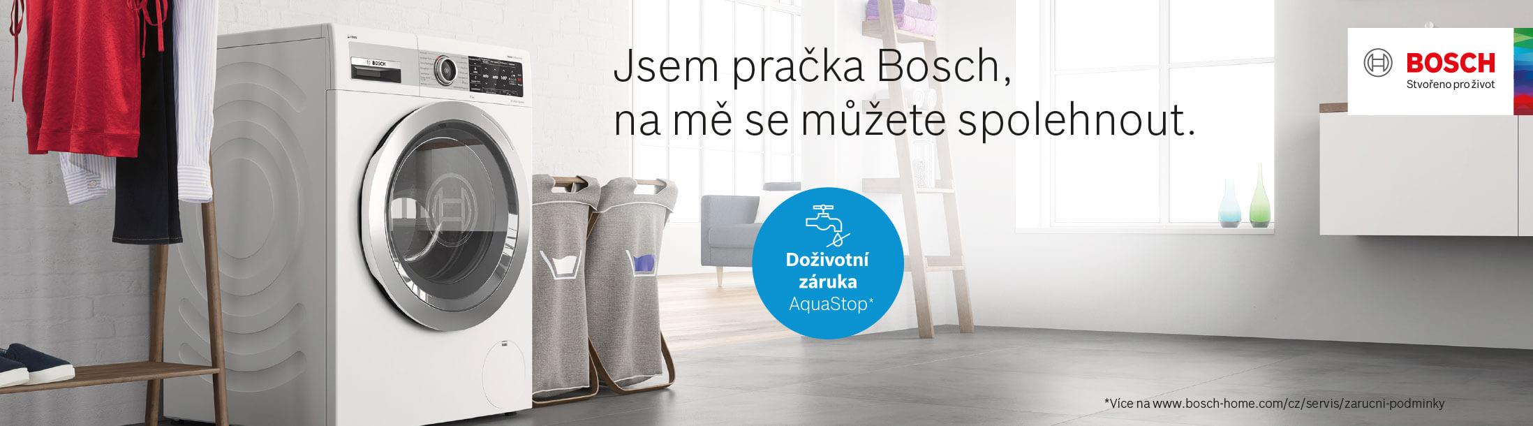 Bosch pračky - Doživotní záruka na AquaStop
