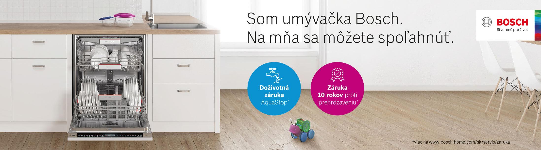 Bosch - Umývačky riadu - Doživotná záruka na AquaStop