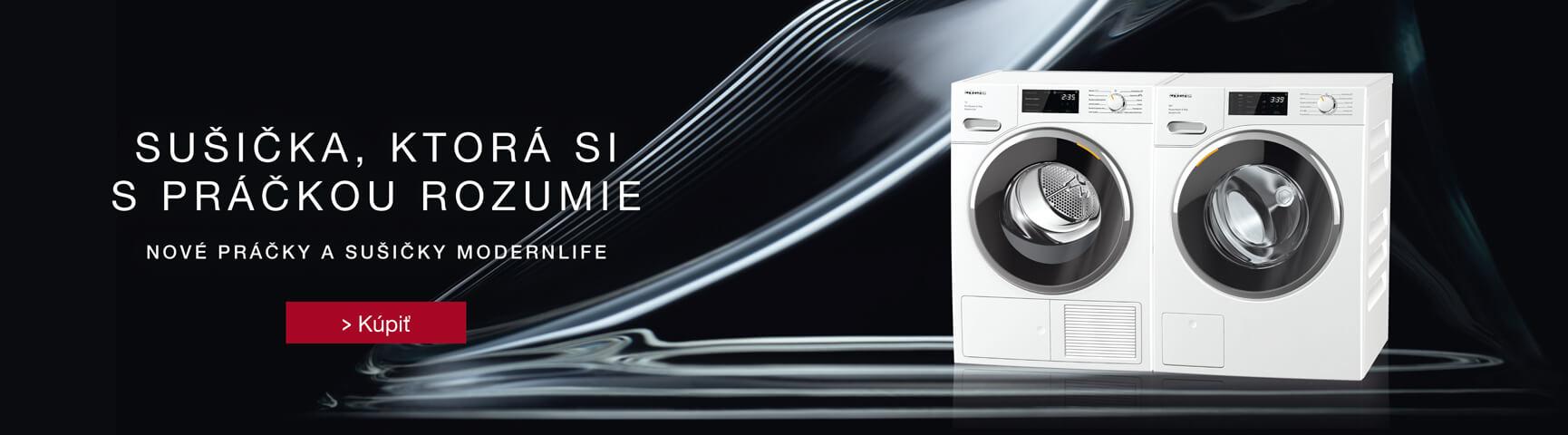 Nové pračky a sušičky Miele ModernLife