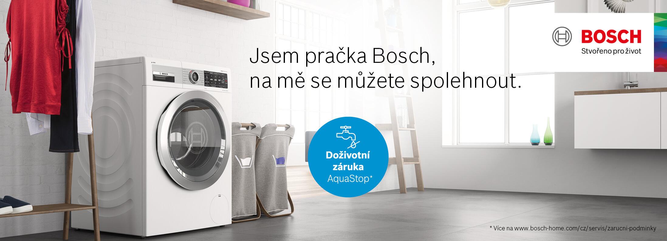Bosch - Pračky - Doživotní záruka na AquaStop