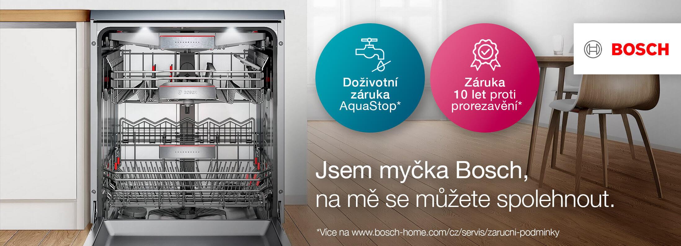 Bosch myčky - Doživotní záruka na AquaStop