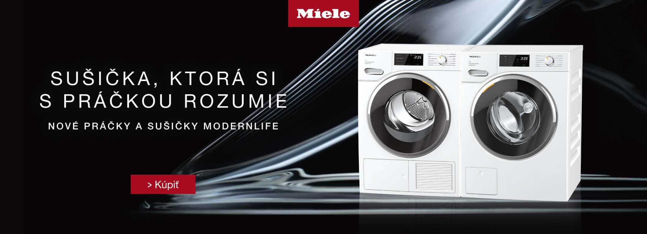 Miele - Nové práčky a sušičky Miele ModernLife