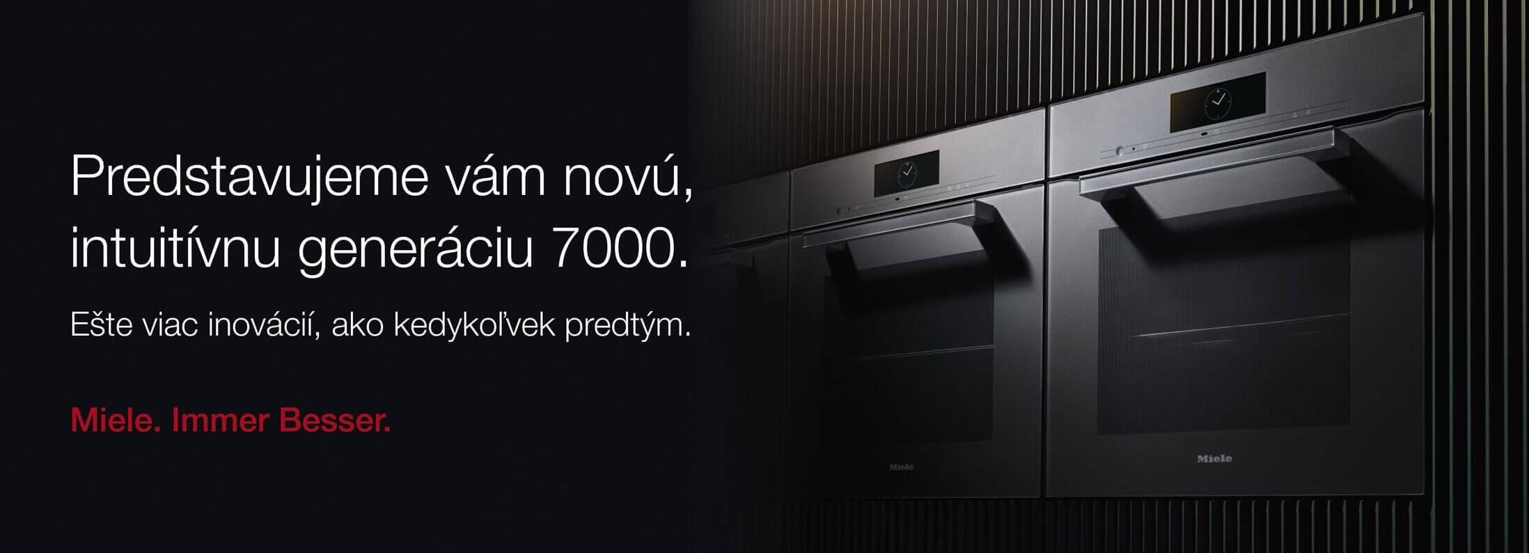 Miele - Nová intuitivna generácia 7000