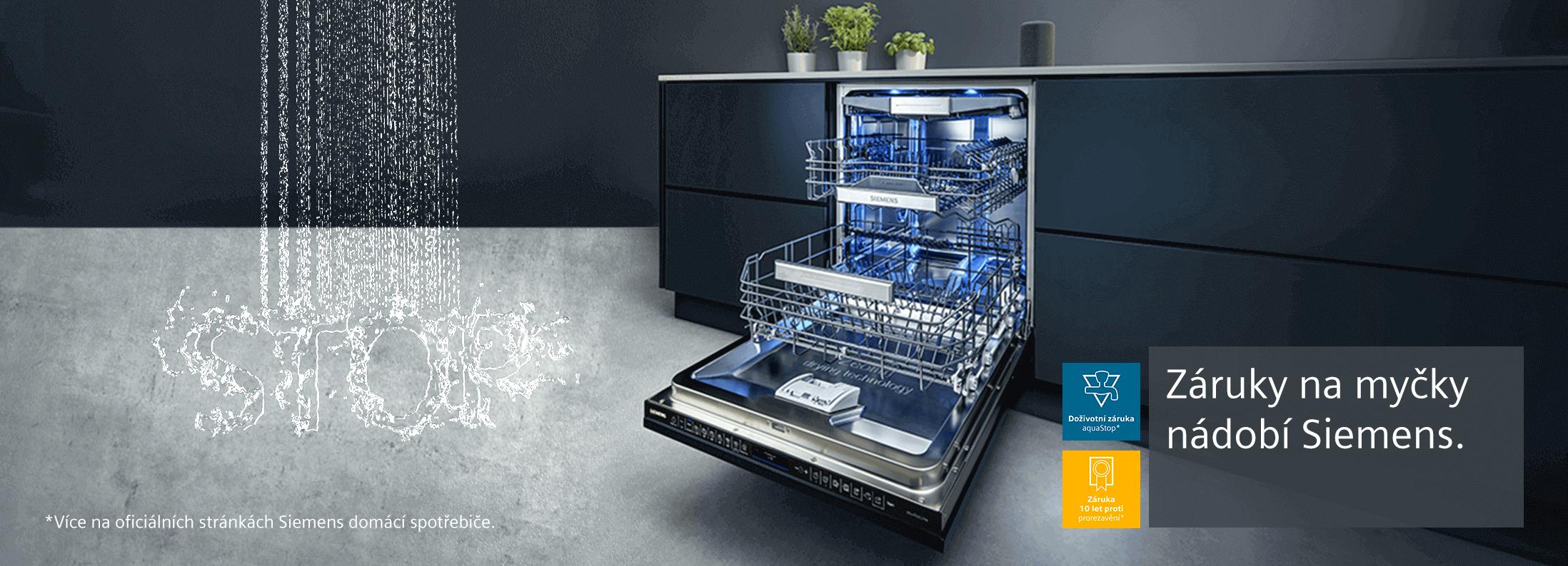 Siemens - 10 letá záruka na prorezavění vnitřních stěn myčky nádobí