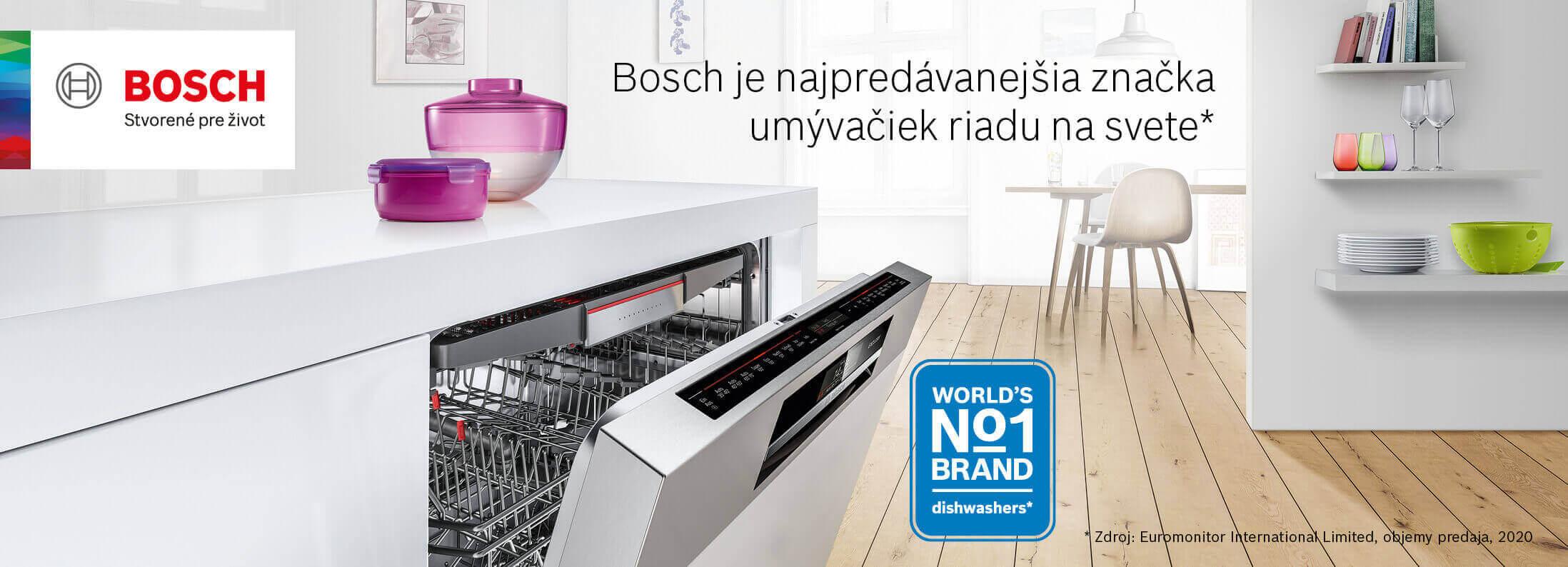 Bosch - Najpredávanejšia značka umývačiek riadu na svete