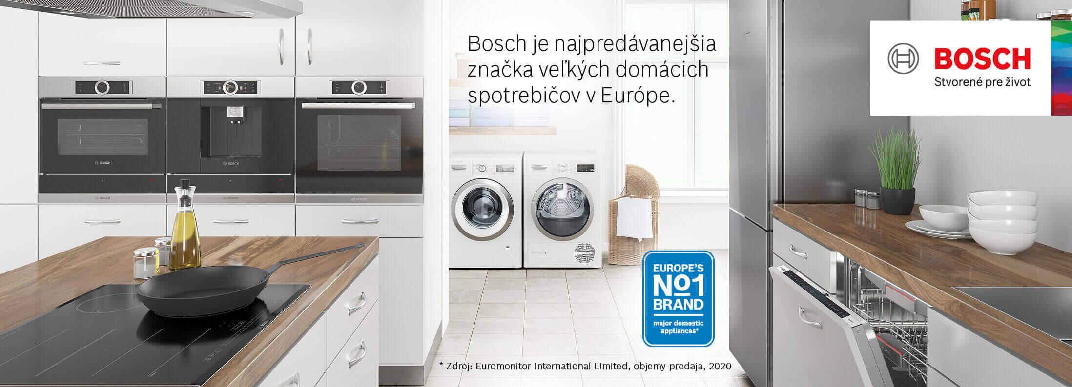 Bosch - Najpredávanejšia značka veľkých domácich spotrebičov v Európe