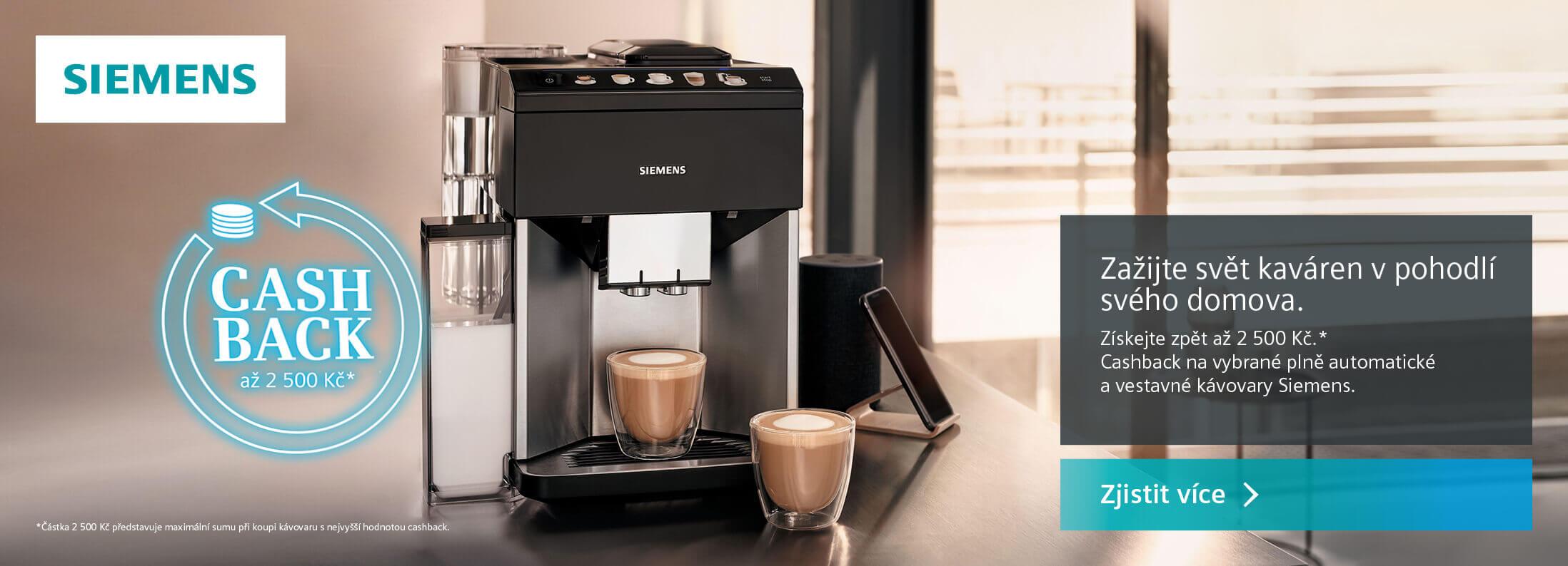 Siemens - Cashback volně stojící kávovary