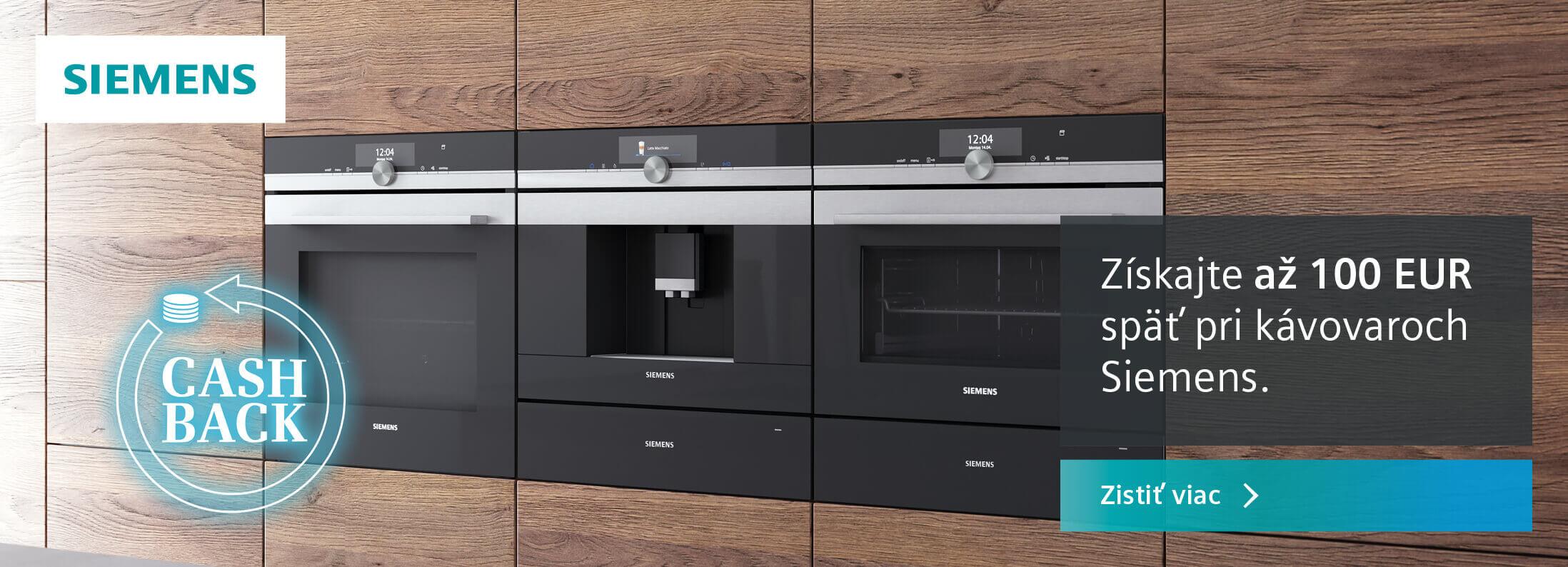 Siemens - Cashback vstavané kávovary