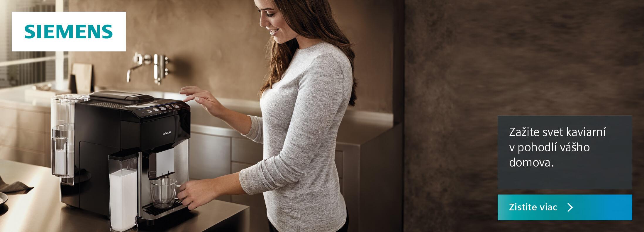 Siemens - Zažite svet kaviarní v pohodlí vášho domova