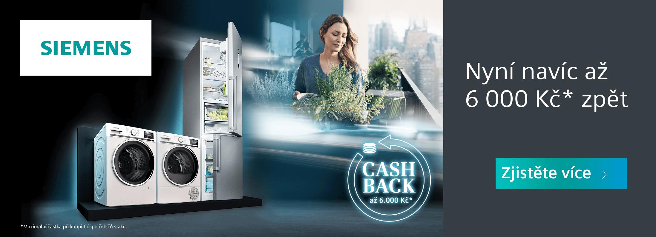 Siemens - Cashback v hodnotě až 6 000 Kč