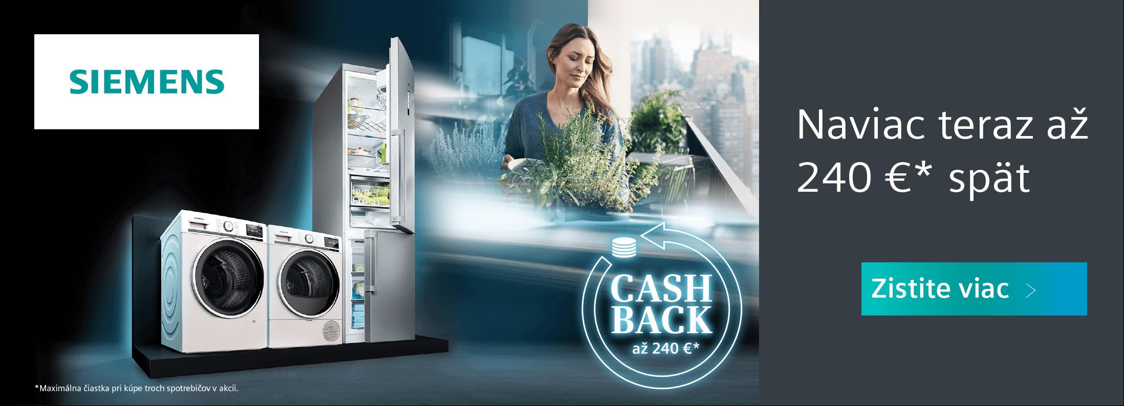 Siemens - Cashback v hodnote až 240 EUR