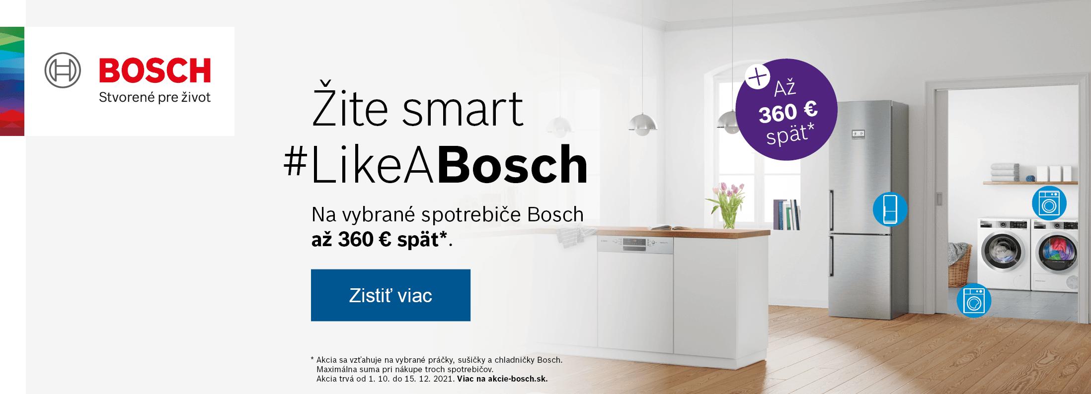 Bosch - Žite smart #LikeABosch