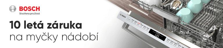 Bosch 10 letá záruka na myčky nádobí