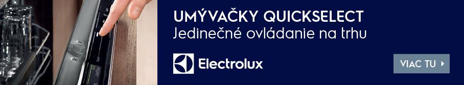 Electrolux umývačky riadu QuickSelect