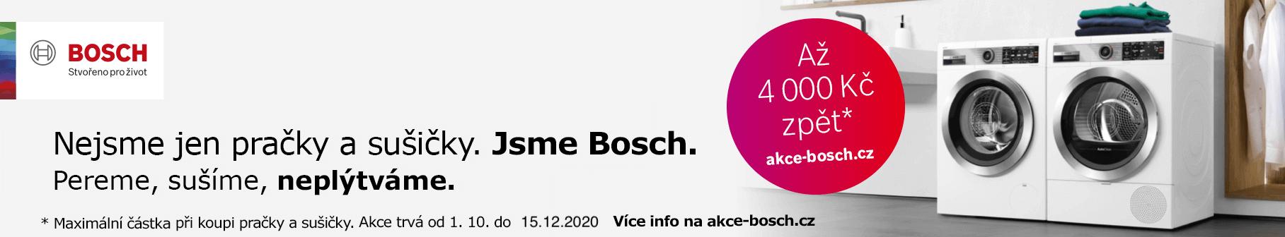 Nejsme jen pračky a sušičky. Jsme Bosch.