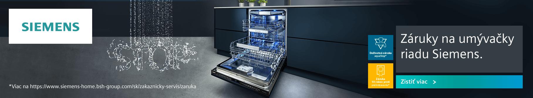 Siemens - 10 rokov záruka na prehrdzaveniu vnútorných stien umývačky riadu