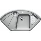 Blanco DELTA aluminium SILGRANIT® PuraDur® II s excentrem 521254