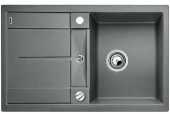 Blanco METRA 45 S aluminium SILGRANIT® PuraDur® II s excentrem - 513027