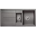 Blanco METRA 6 S aluminium SILGRANIT® PuraDur® II bez excentru - 513222