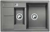 Blanco METRA 6 S Compact aluminium SILGRANIT® PuraDur® II s excentrem - 513553