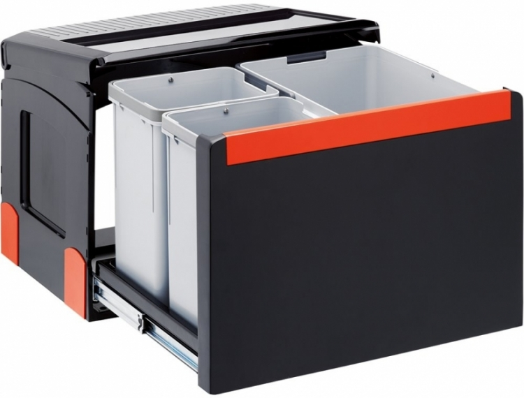 Sorter Cube 50 1 x 14L 2 x 8L, ruční výsuv