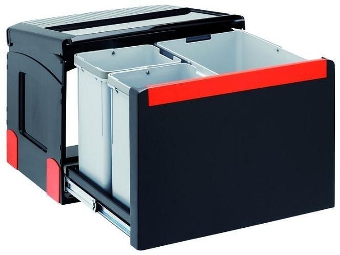 Sorter Cube 50 1 x 14L 2 x 8L, automatický výsuv