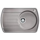 Blanco Rondoval 45 S aluminium SILGRANIT® PuraDur® II s excentrem - 515783
