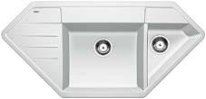 Lexa 9 E bílý SILGRANIT® PuraDur® II bez excentru - 515108