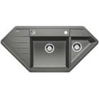Blanco Lexa 9 E aluminium SILGRANIT® PuraDur® II s excentrem - 515097