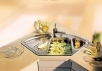DELTA světle šedá, kuchyňský dřez s excentrem a příslušenstvím SILGRANIT® 515216