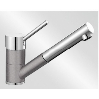 Blanco Antas-S aluminium/chrom tlaková SILGRANIT® -Look - 515349