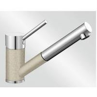 Blanco Antas-S písek/chrom tlaková SILGRANIT® -Look - 515353