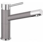Blanco Alta Compact aluminium/chrom SILGRANIT®-Look - 515316