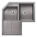 Blanco METRA 9 E aluminium SILGRANIT® PuraDur® II bez excentru - 515567