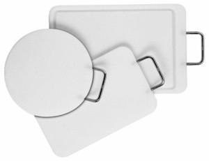 Profi-deska na krájení okrouhlá 24 cm, bílá