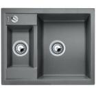 Blanco METRA 6 aluminium SILGRANIT® PuraDur® II s excentrem - 516156