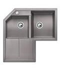 Blanco METRA 9 E aluminium SILGRANIT® PuraDur® II s excentrem - 515557