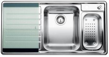 AXIS II 6 S-IF kuchyňský dřez vpravo nerez s excentrem a příslušenstvím - 516533