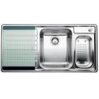Blanco AXIS II 6 S-IF kuchyňský dřez vpravo nerez s excentrem a příslušenstvím - 516533