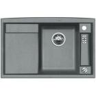 Blanco AXIA II 5 S-F aluminium, kuchyňský dřez s excentrem a příslušenstvím, SILGRANIT® 516812