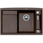 Blanco AXIA II 5 S-F kávová, kuchyňský dřez s excentrem a příslušenstvím, SILGRANIT 516817