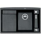Blanco AXIA II 5 S-F antracit, kuchyňský dřez s excentrem a příslušenstvím, SILGRANIT® 516811