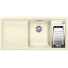 Blanco AXIA II 6 S-F jasmín, kuchyňský dřez s excentrem a příslušenstvím, SILGRANIT® 516878