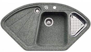 Blanco Delta F Aluminium Kuchyňský Dřez S Excentrem A