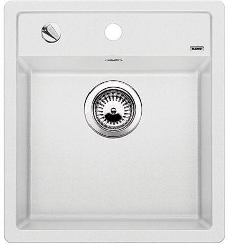 DALAGO 45-F bílá, kuchyňský dřez s excentrem SILGRANIT® 517169